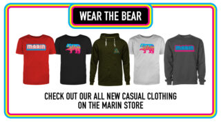 Marin web store apparel promotion.