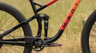 Profile shot of a Marin Rift Zone 29 3 bike, showing the MultiTrac suspension.