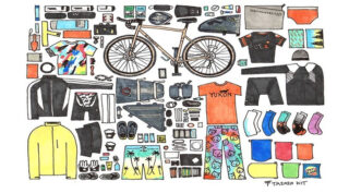 Illustration of gear needed for tour of Aotearoa.