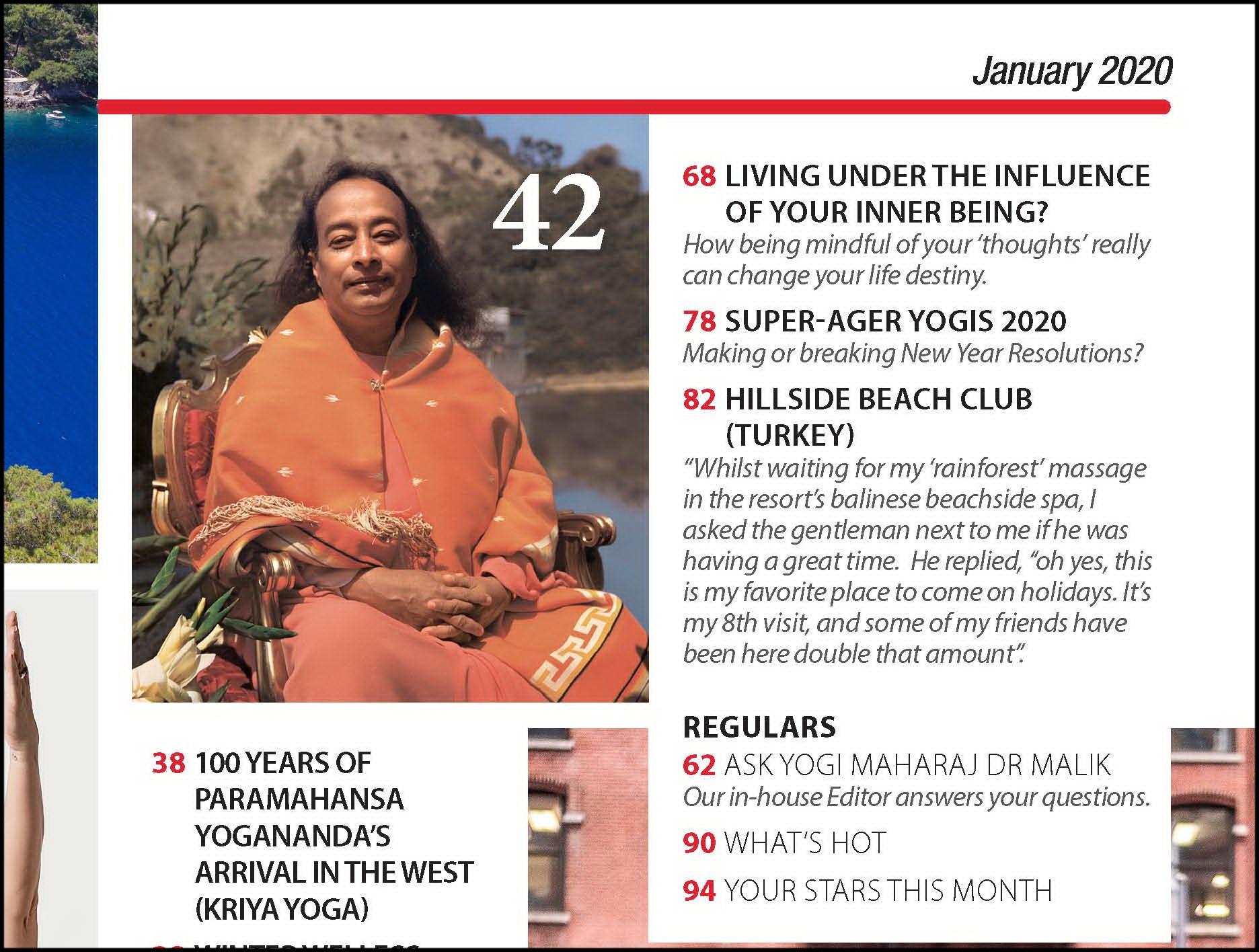 Yoga Magazine January 2020