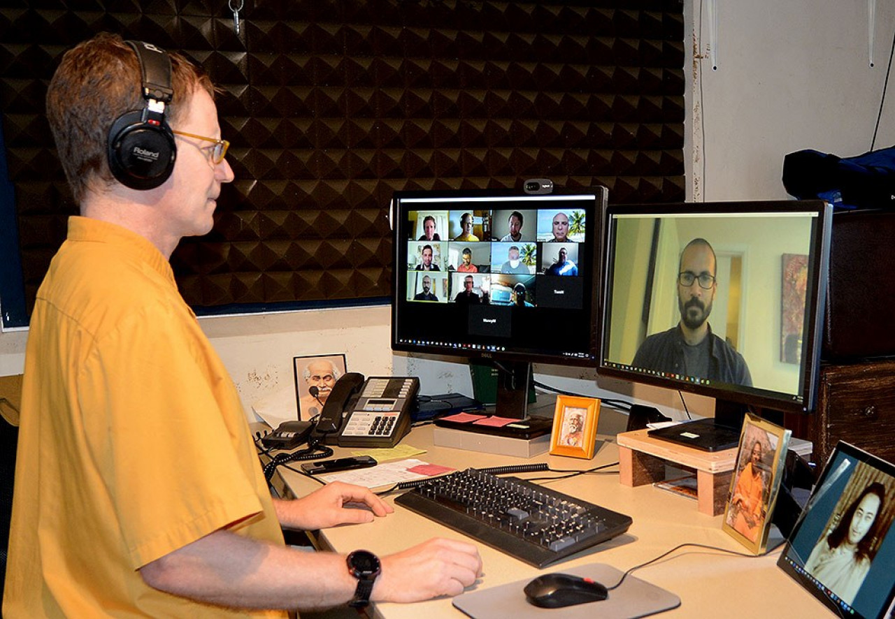 B Message Of Appreciation Monk In Video Conference
