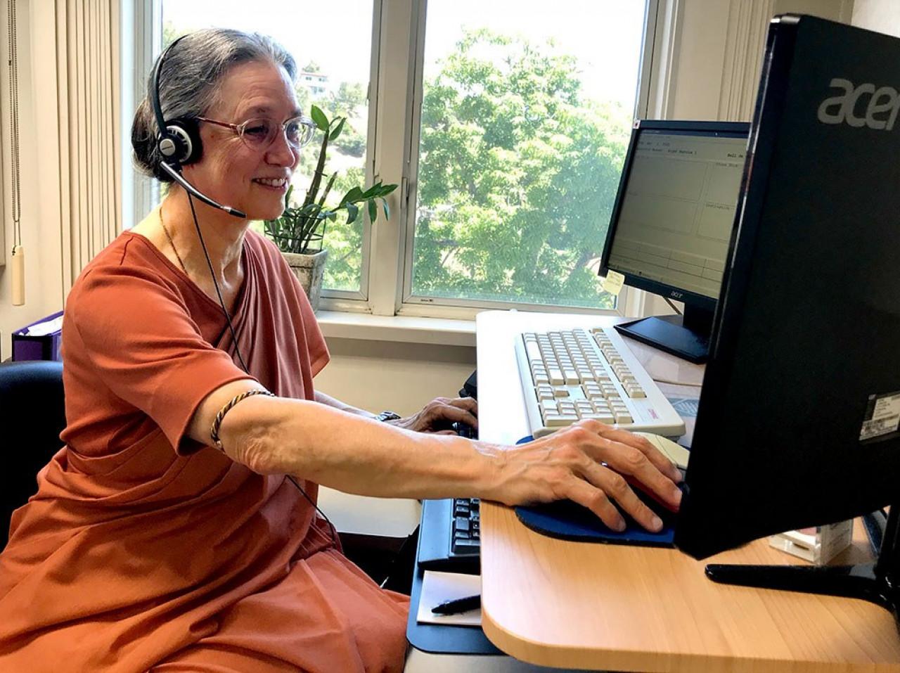 B Message Of Appreciation Nun Answering Phone
