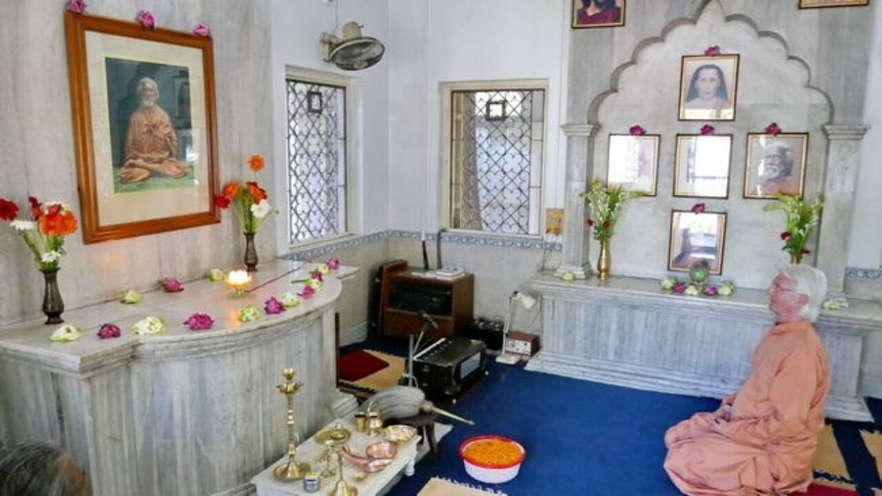 Brother Chidananda At Yogananda's Childhood Home