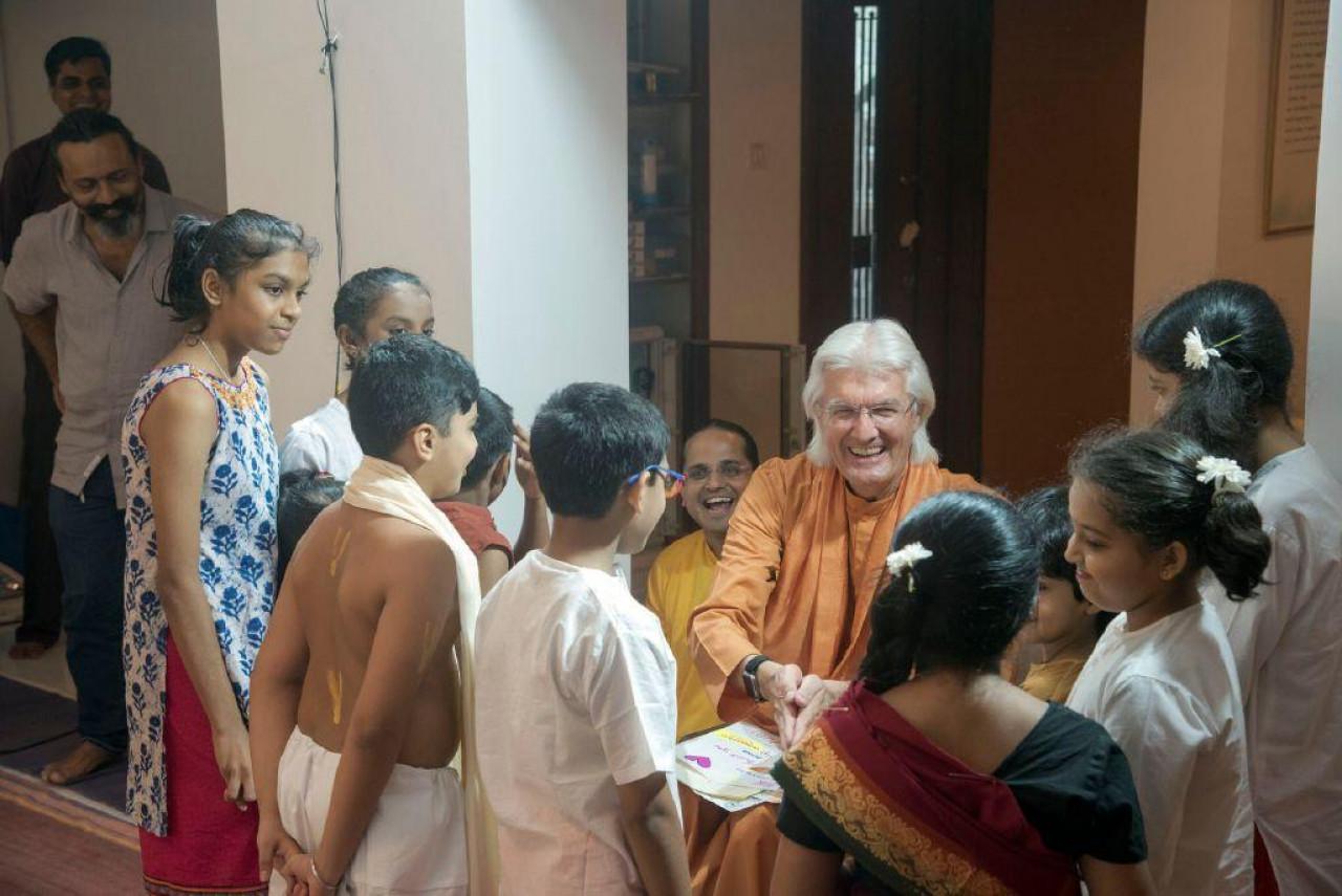 Brother Chidananda In Mumbai For Blog November 10 Greeting Sunday School Children
