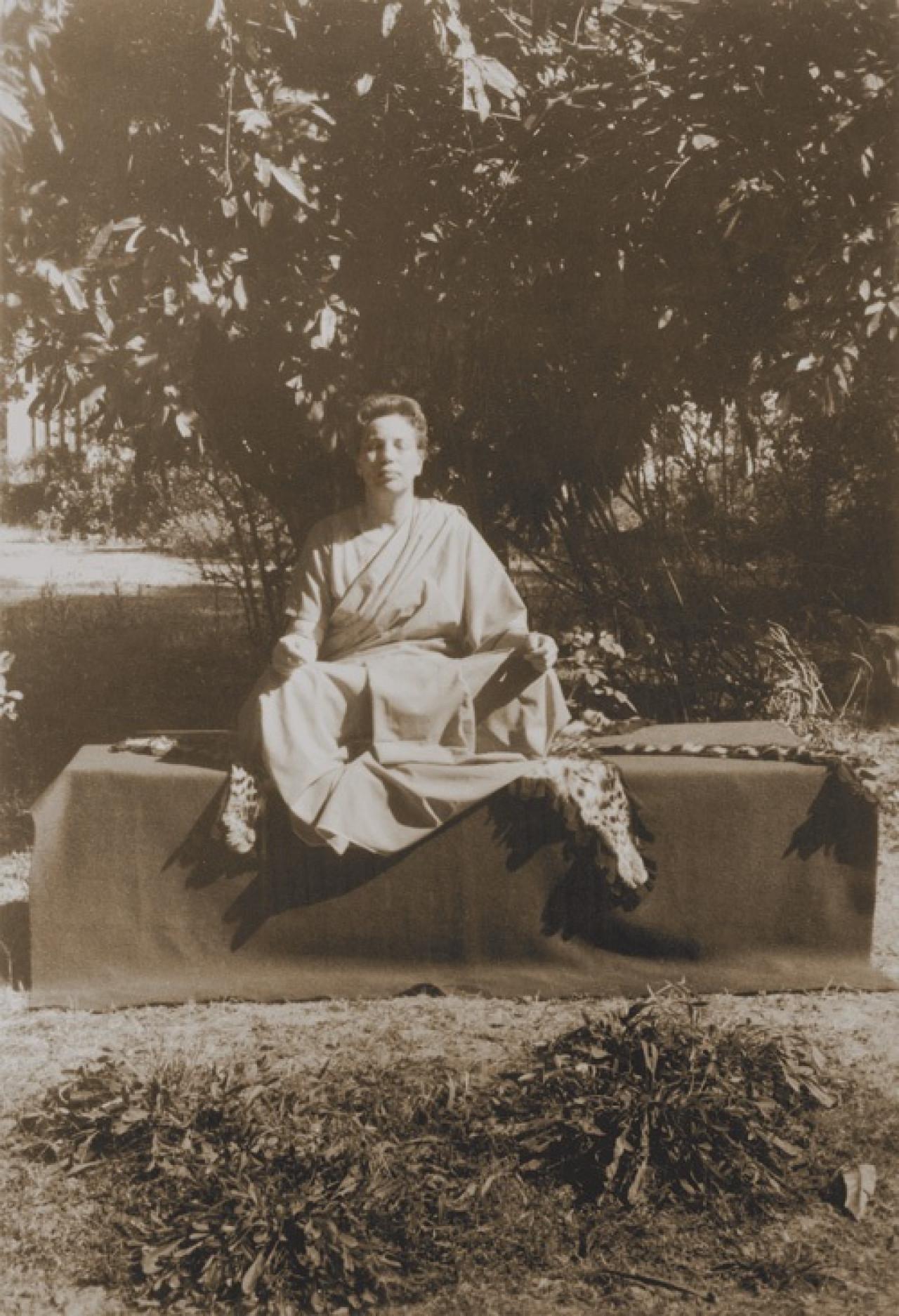Sri Daya Mata Meditating In Ranchi