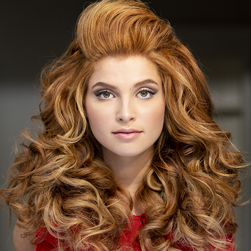 2019 Big Sexy Hair image of Red Head Model