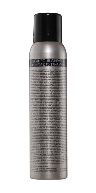 Long dry shampoo back