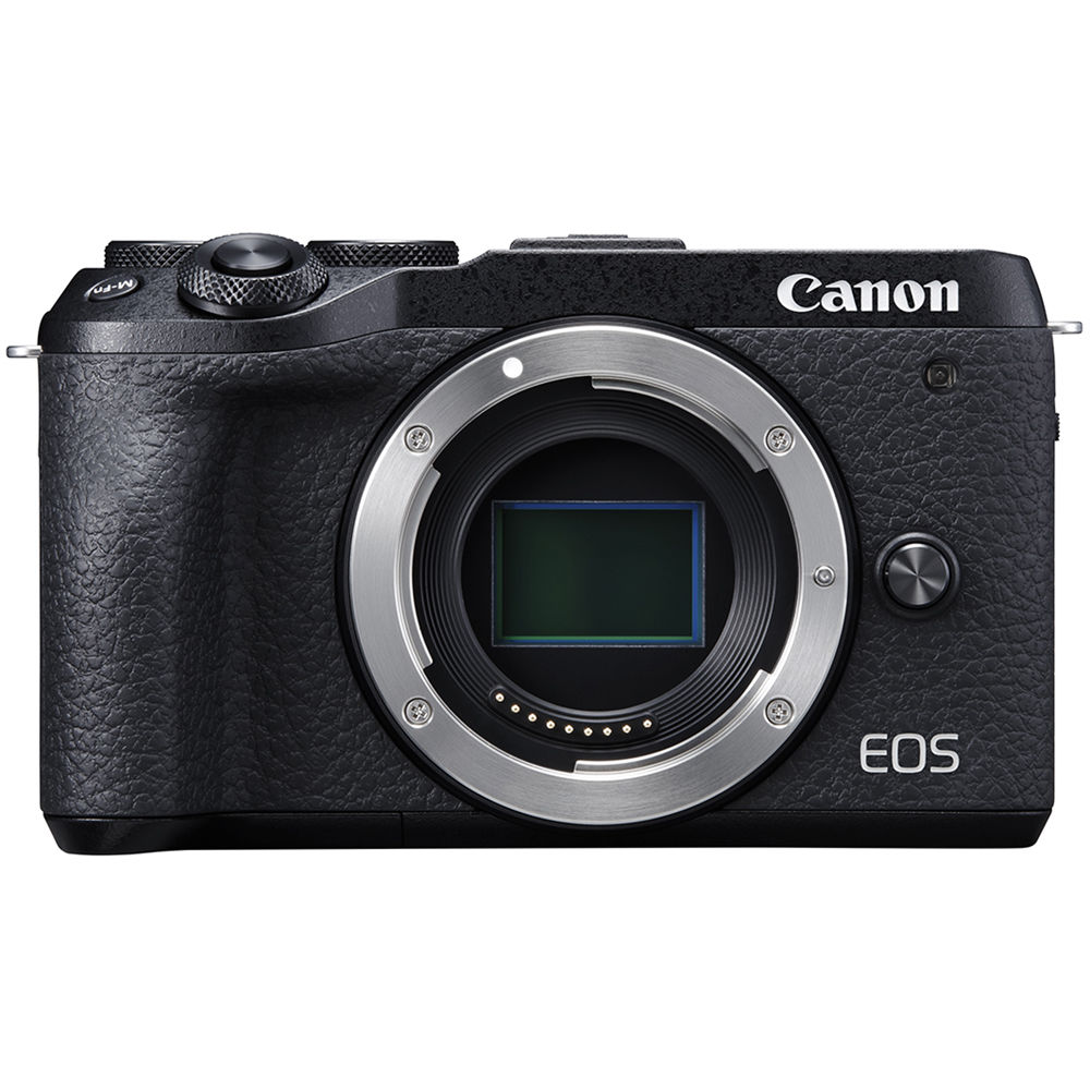 Canon EOS M6 Mark II Mirrorless Digital   Camera - Black (Body Only)