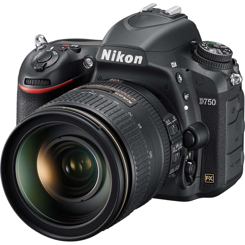 Nikon D750 DSLR Camera with 24-120mm F4  VR Lens