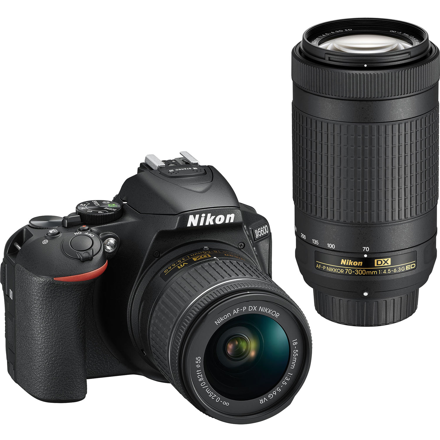 Nikon D5600 DSLR Camera with 18-55 and 70-300 Kit