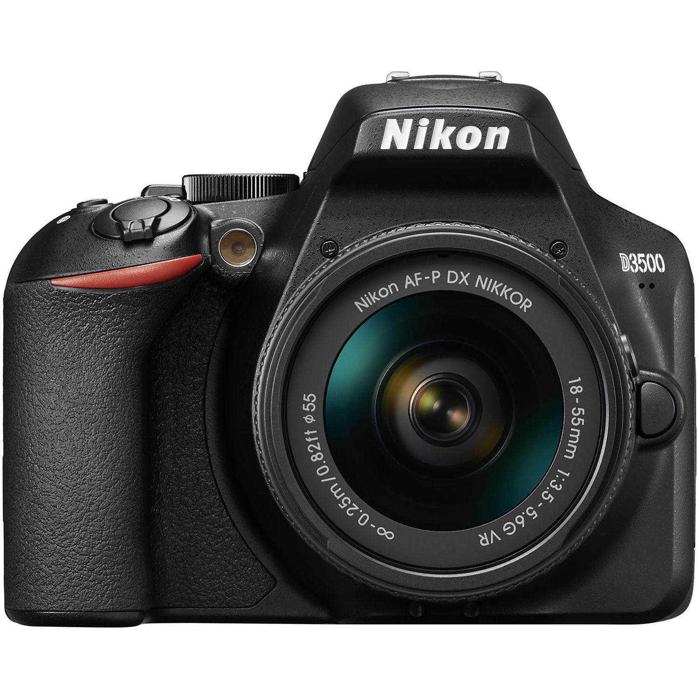 Nikon D3500 DSLR w/ AF-P 18-55mm   VR Lens (Black)