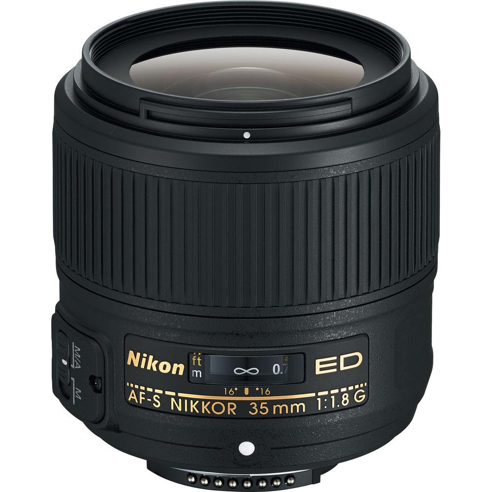 Open Box Nikon 35mm F1.8 FX G ED Lens