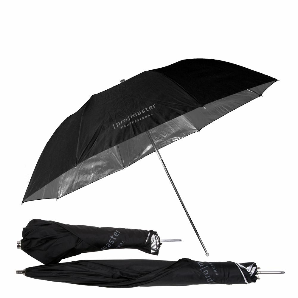"""Promaster 3375 36"""" Compact Black/Silver Professional Series Umbrella"""