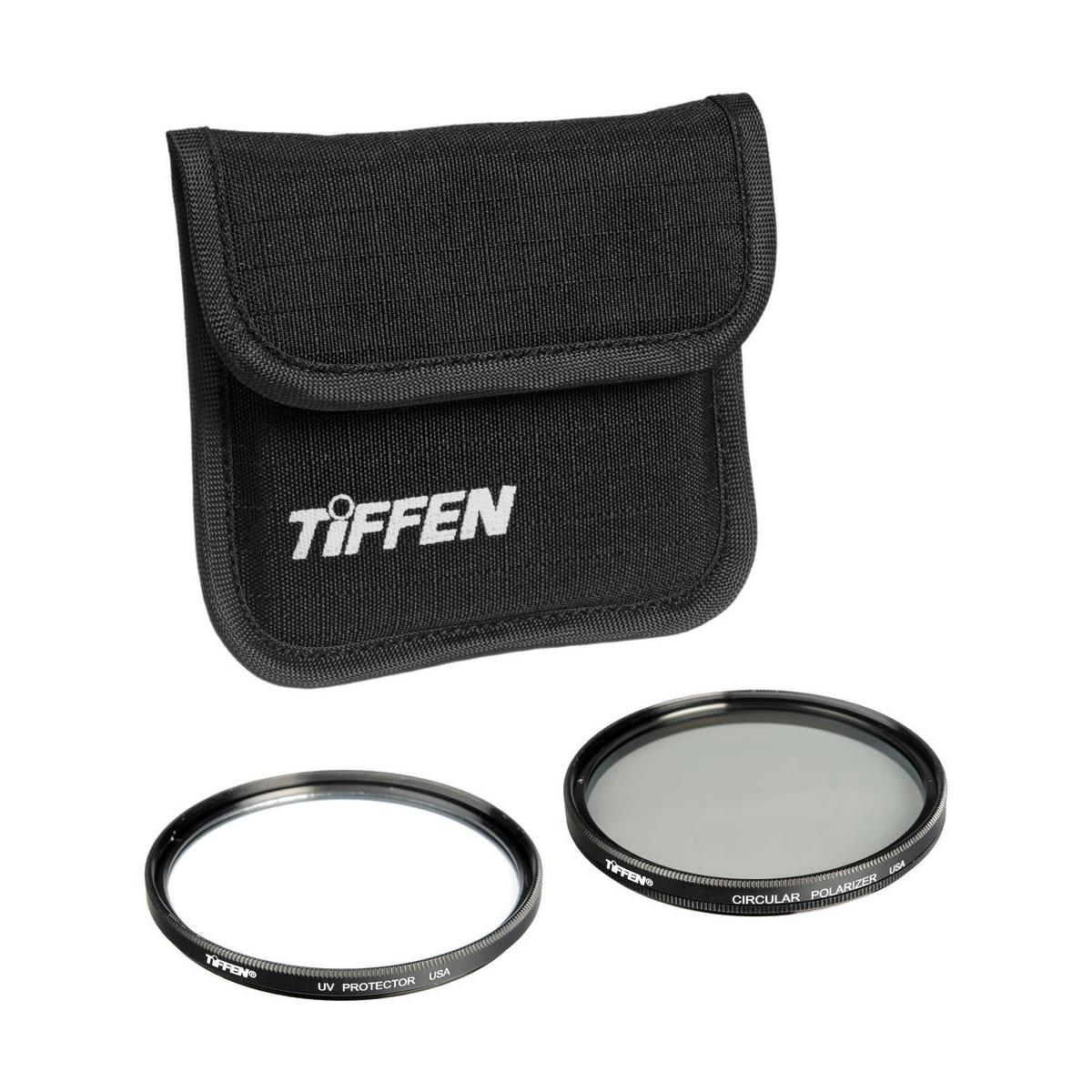 Tiffen 72mm Photo Twin Pack (UV  Protection & Circular Polarizing Filter)