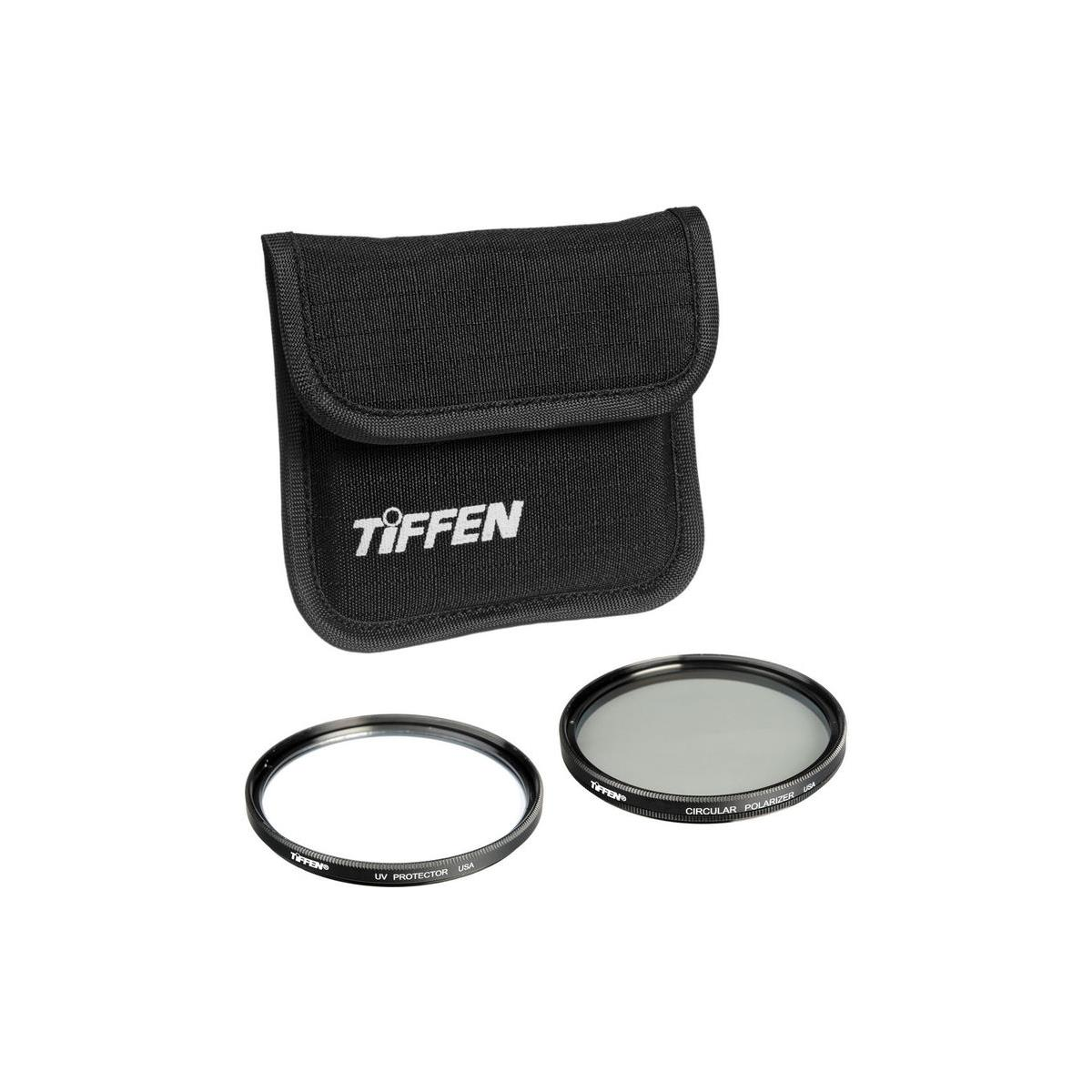 Tiffen 62mm Photo Twin Pack (UV and  Circular Polarizer Filters)