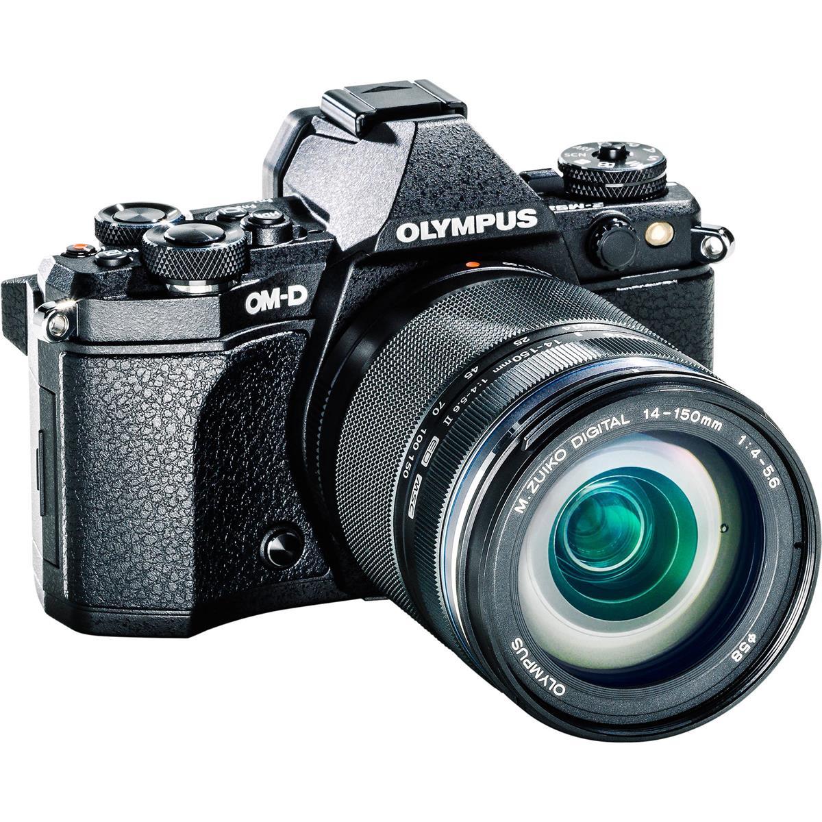 Olympus OM-D E-M5  MarkII Weathersealed  Kit with ED 14-150 f4.0-5.6II (Black)