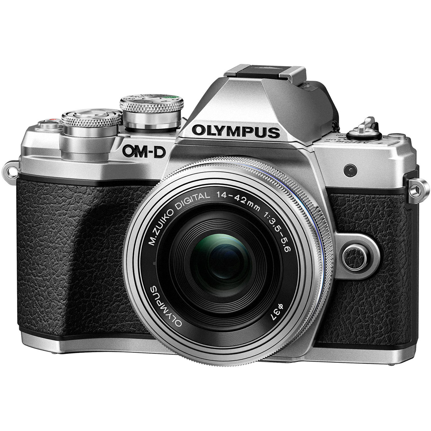 Olympus OM-D E-M10 Mark III Mirrorless  Micro Four Thirds Digital Camera with 14-42mm EZ Lens - Silver