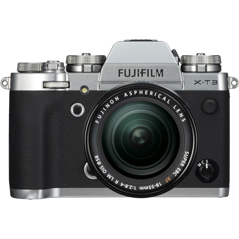 Fujifilm X-T3 Mirrorless Camera w/  18-55mm Lens Kit (Silver)