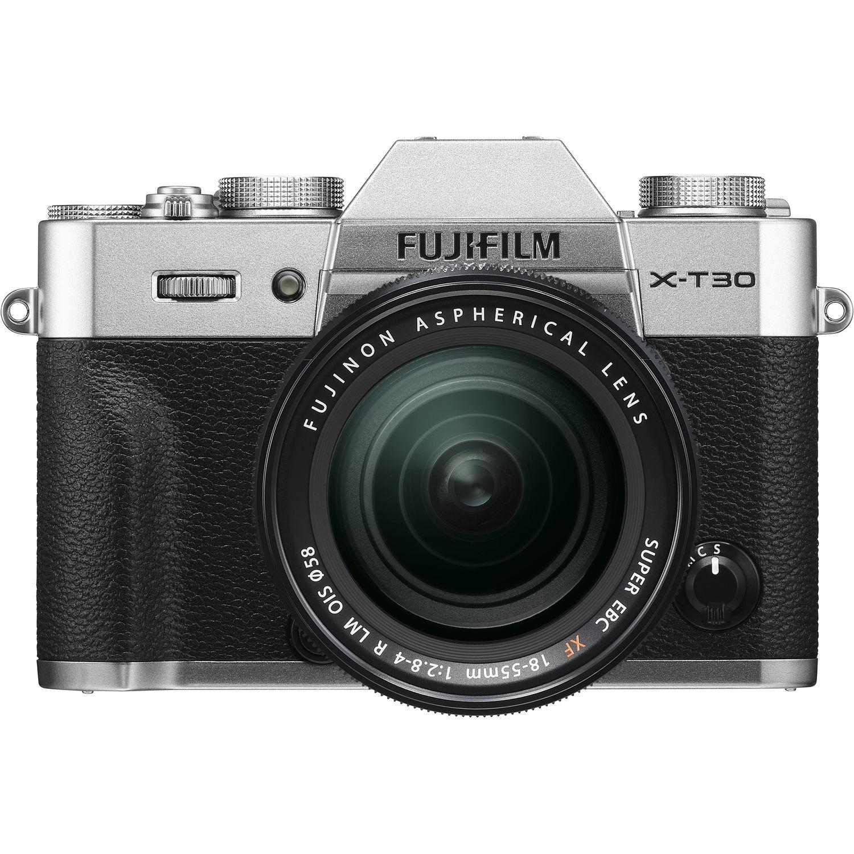 Fujifilm X-T30 Mirrorless Digital Camera with 18-55mm Lens (Silver)