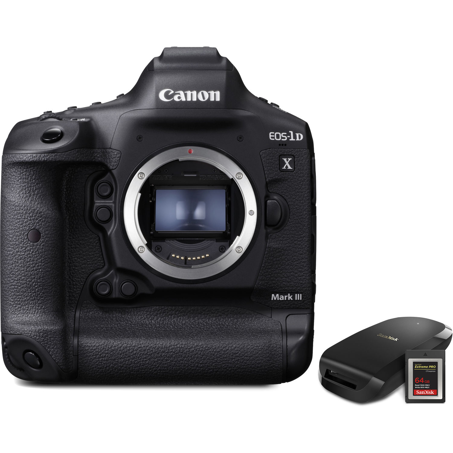 Canon EOS 1DX Mark III DSLR Camera Body with CFexpress Card & Reader Bundle Kit
