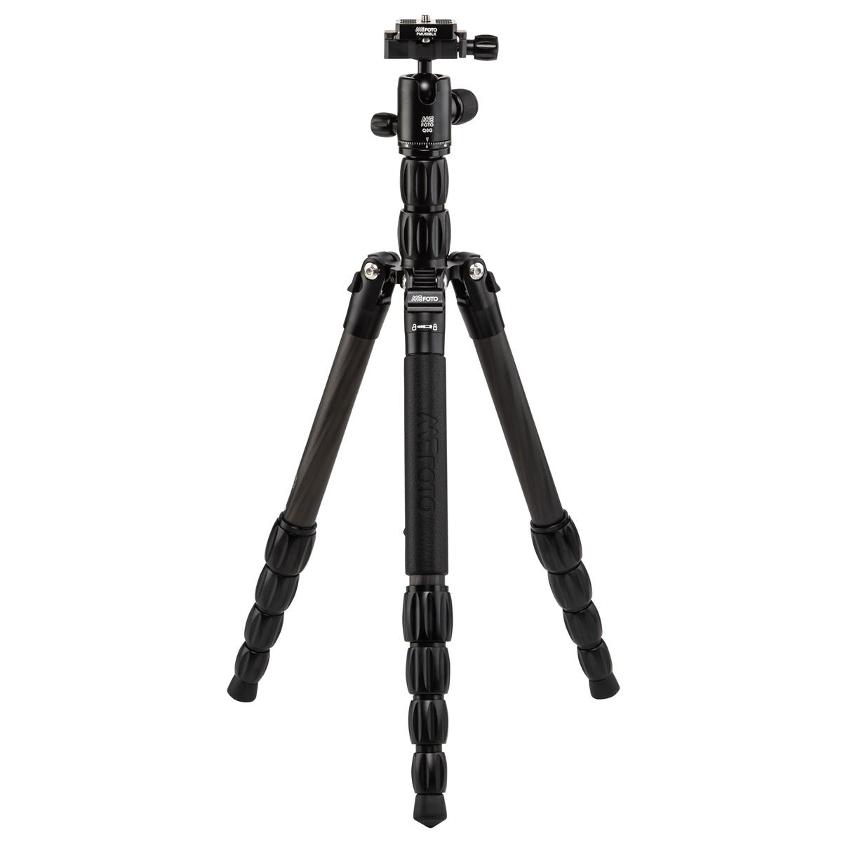 MeFOTO BPSCBLK BackPacker S Travel Tripod (Black Carbon Fiber)