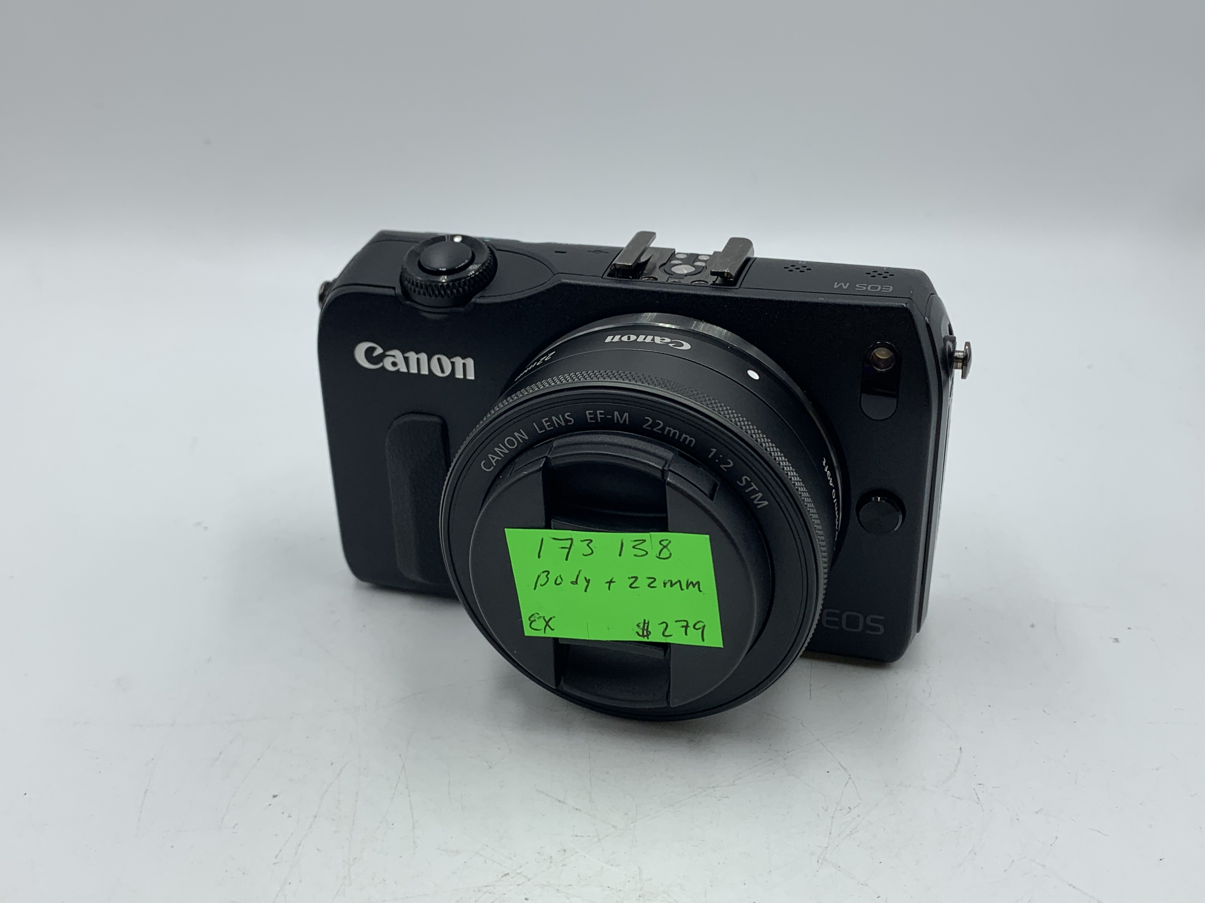 Used Canon EOS M W/ 22mm EF-M lens
