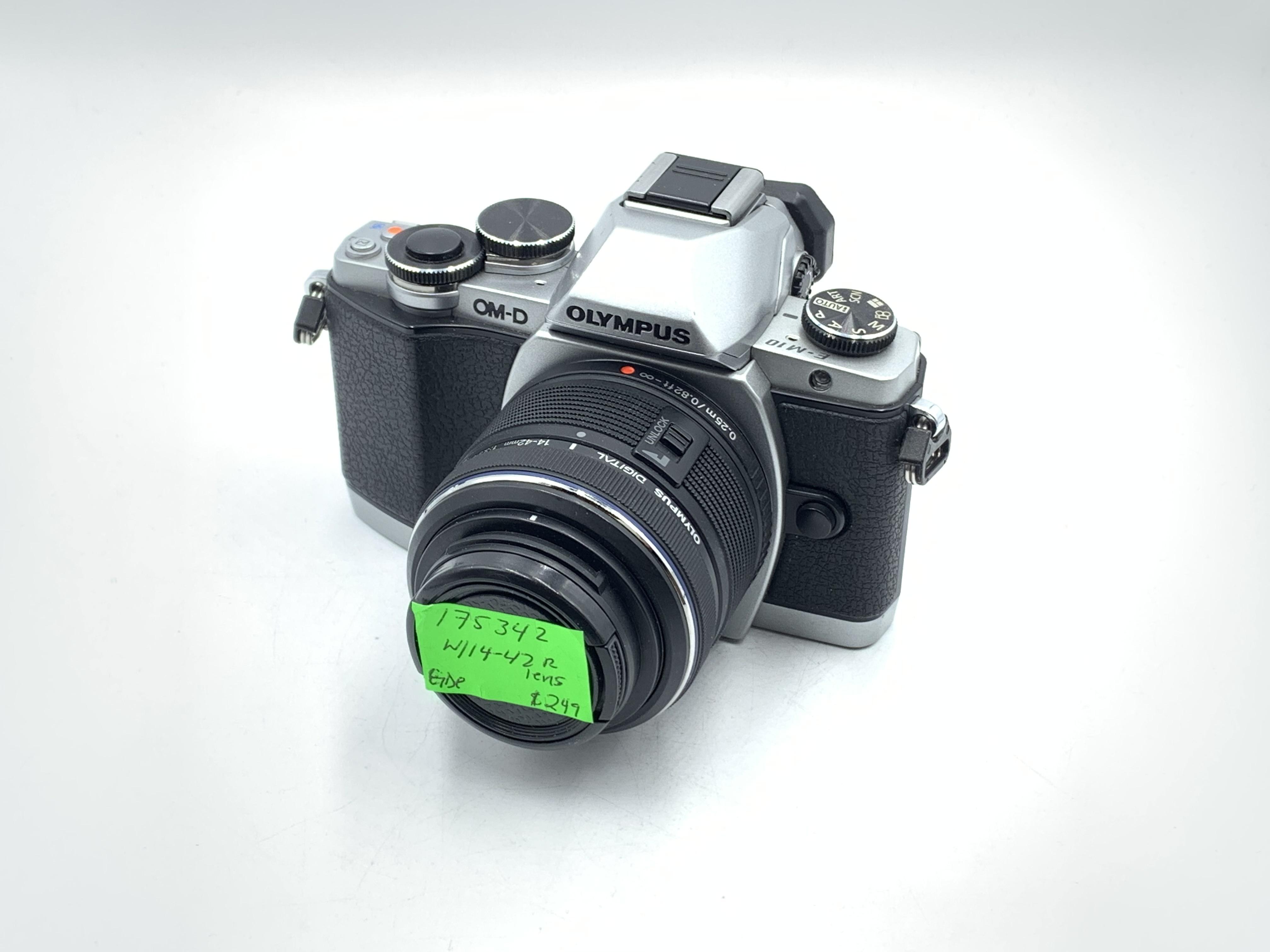 Used Olympus E-M10 W/ 14-42 R II Lens (Silver body)