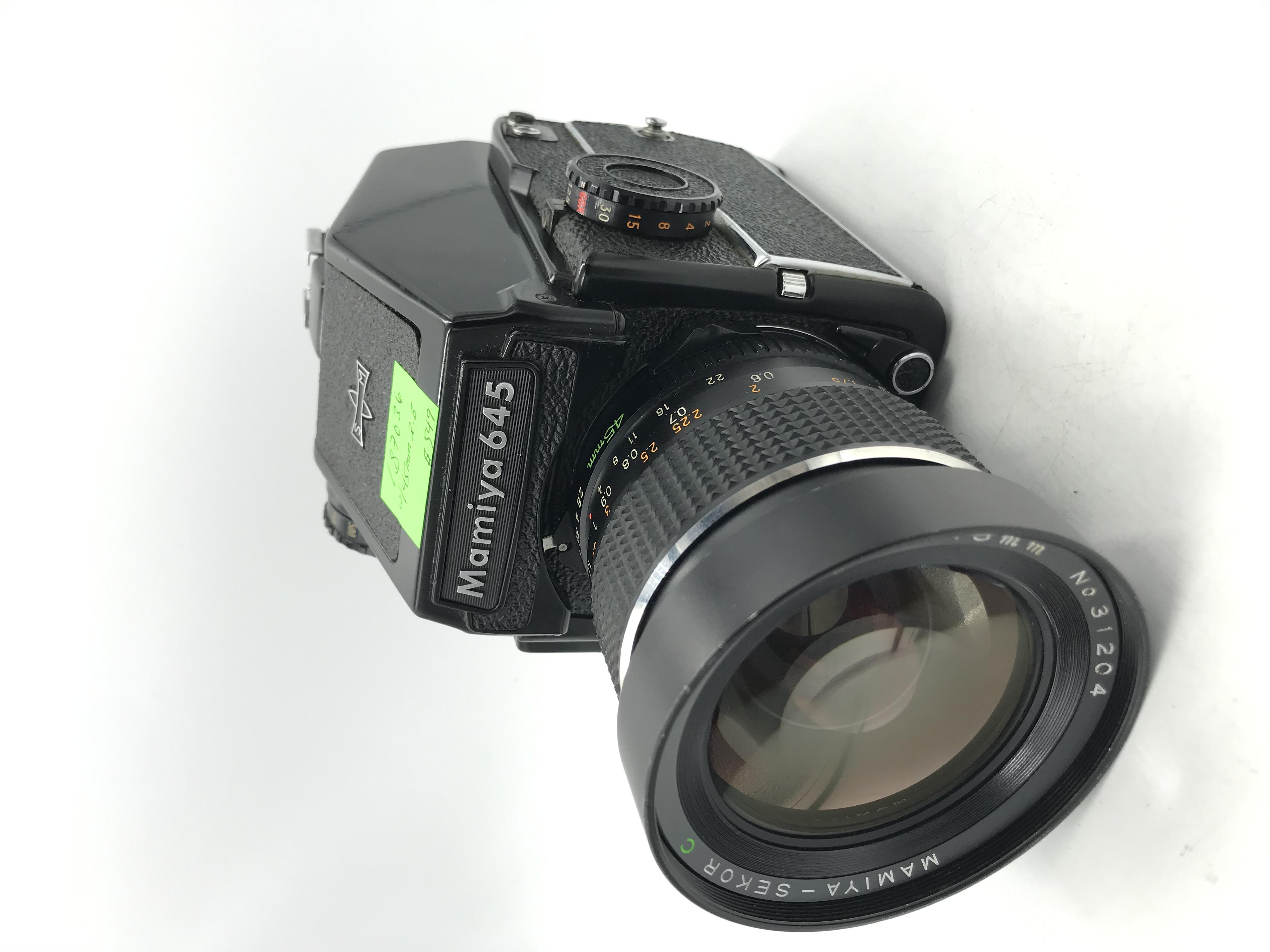 USED Mamiya 645 1000S Film Camera W/ 45mm F2.8 Lens