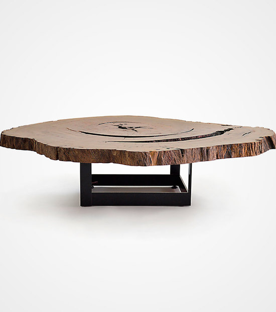 Bahia Pequi Slice Table – Metal Base – Stock 02