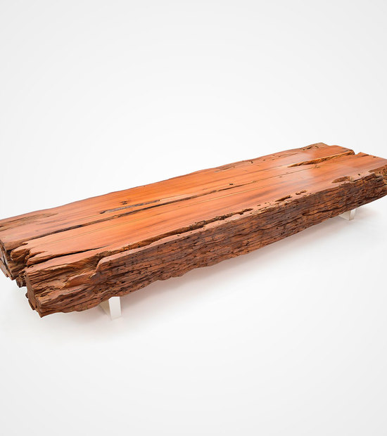 Bicuiba Trunk Table – Brushed Stainless Steel Legs