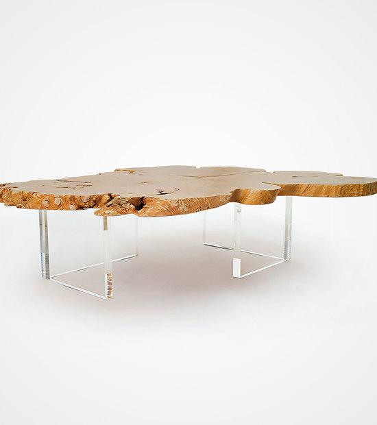 Maple Table & Acrylic Legs 03