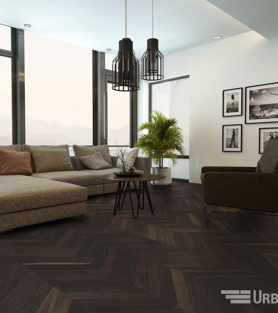 Chevron Smoke Oak floors