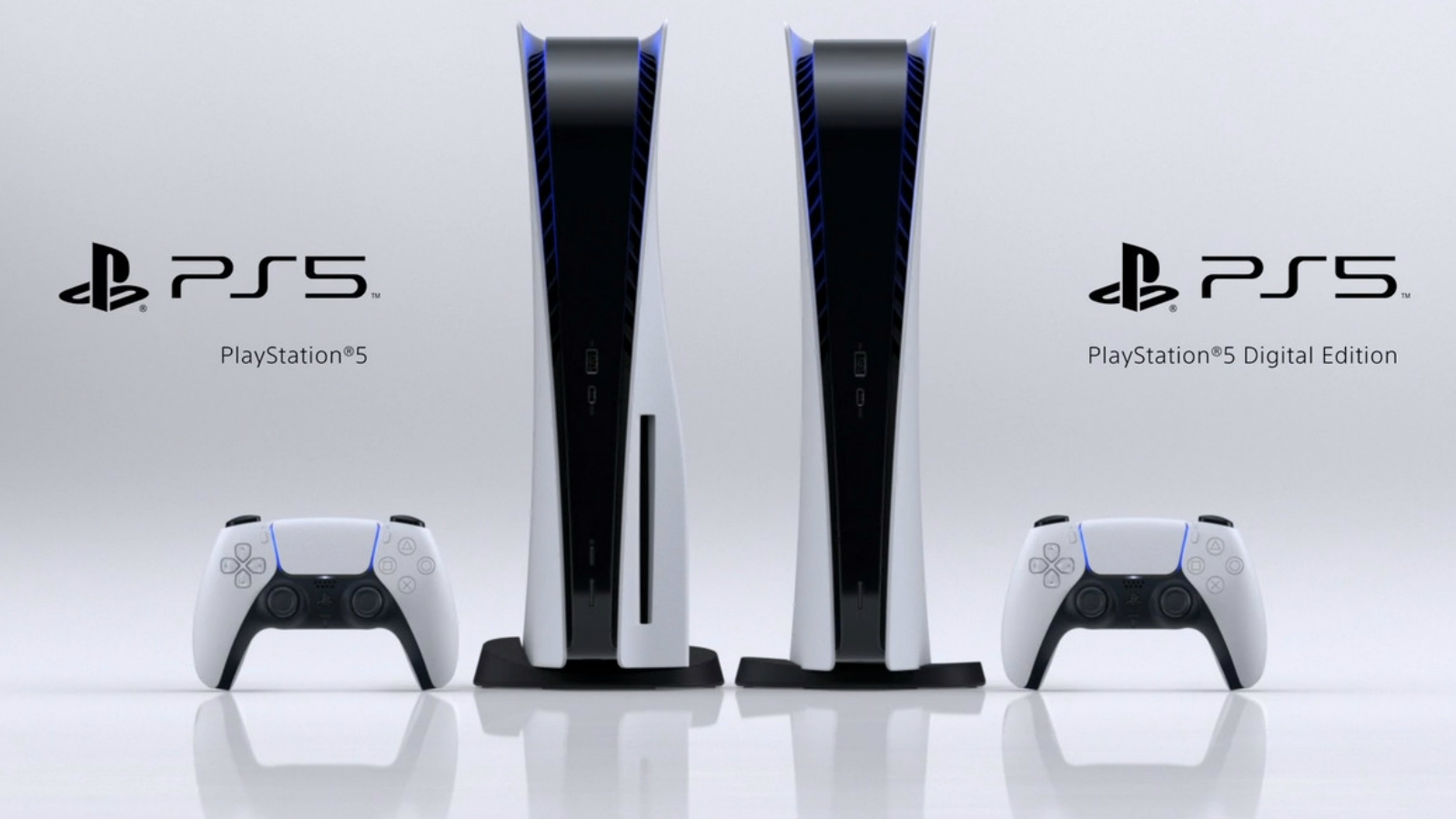 PlayStation 5 models side by side.