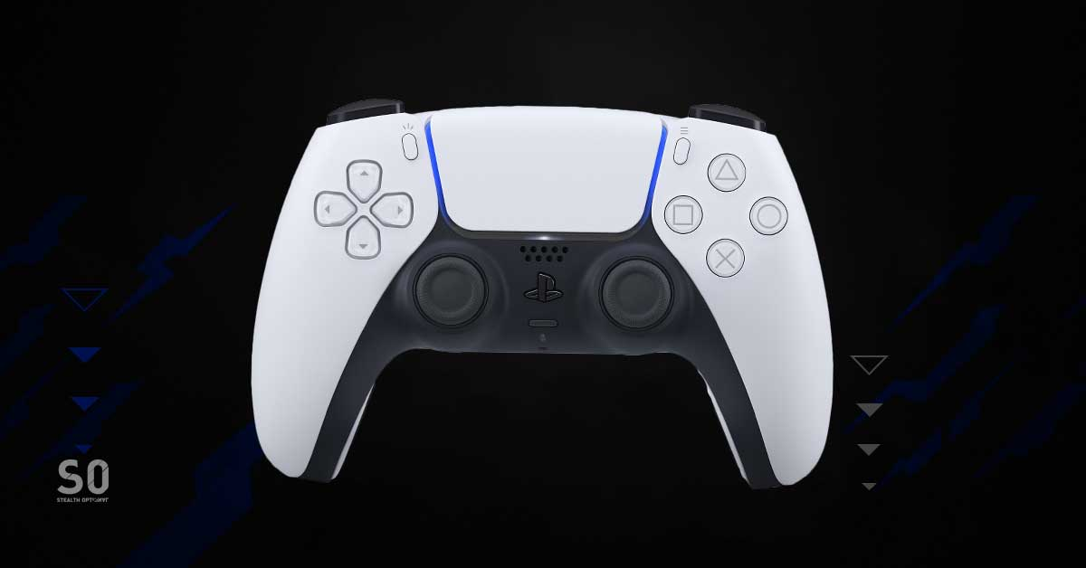 New PS5 controller in white.