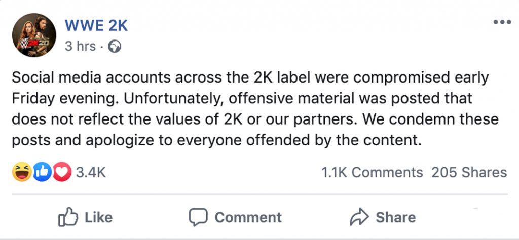 Facebook: WWE 2K