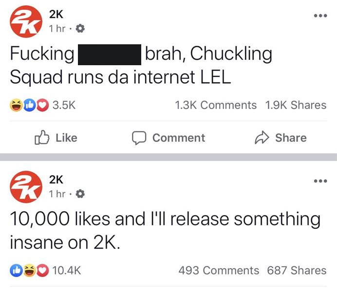 Facebook: 2K