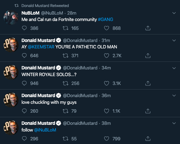 Twitter: Donald Mustard