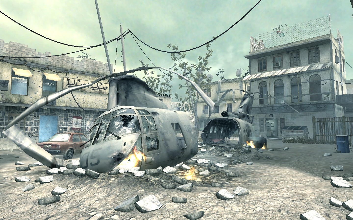 An image of the multiplayer map Crash from Call of Duty 4: Modern Warfare.
