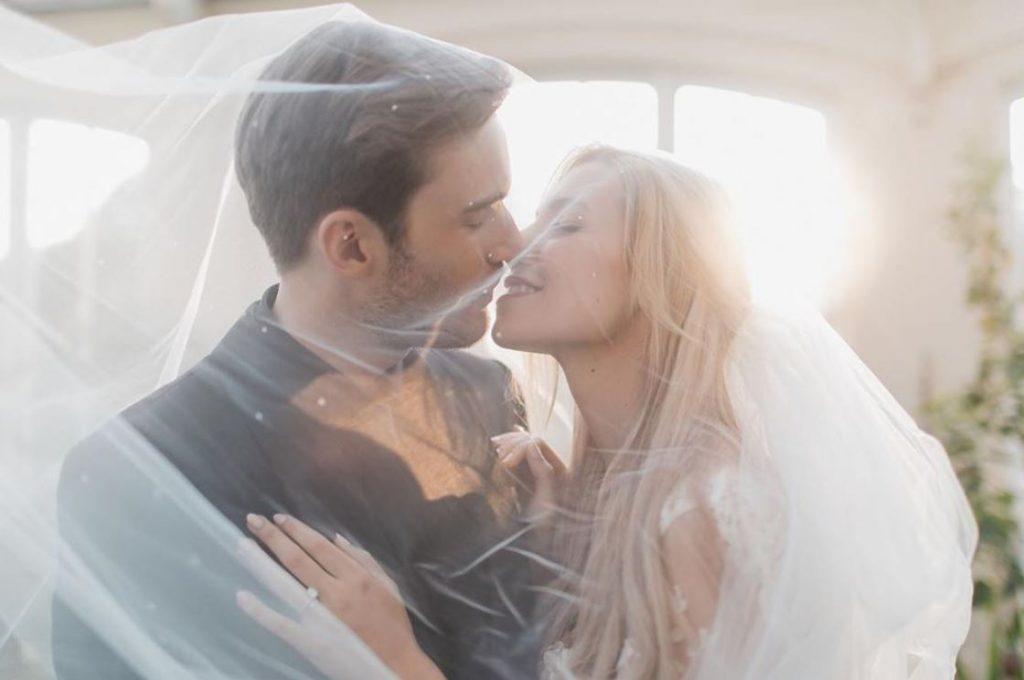 PewDiePie and Marzia Kjellberg at their wedding