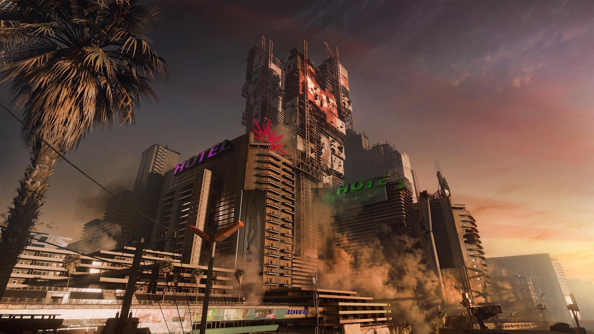 Night City in Cyberpunk 2077