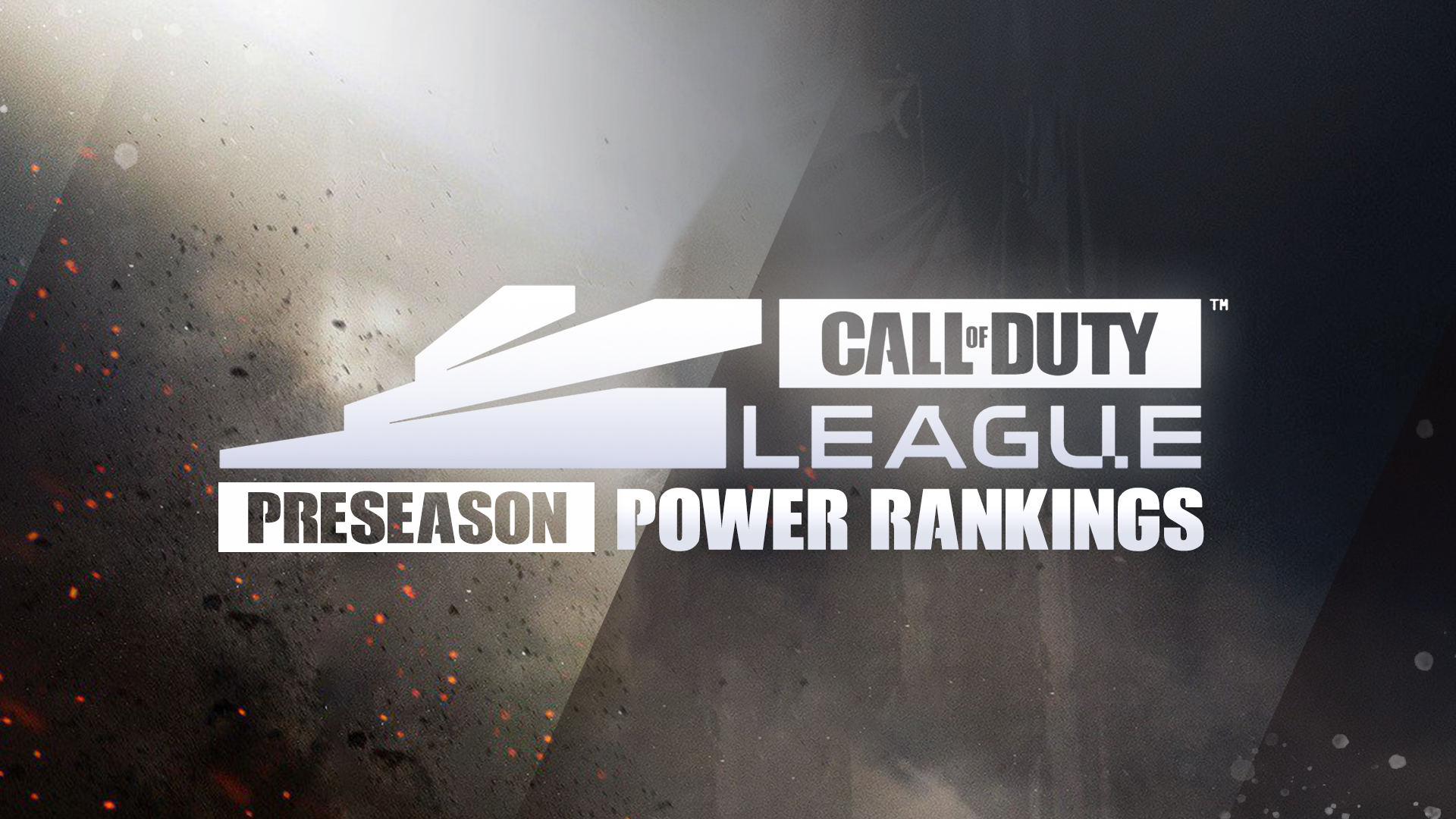 An image of Call of Duty League preseason power rankings text
