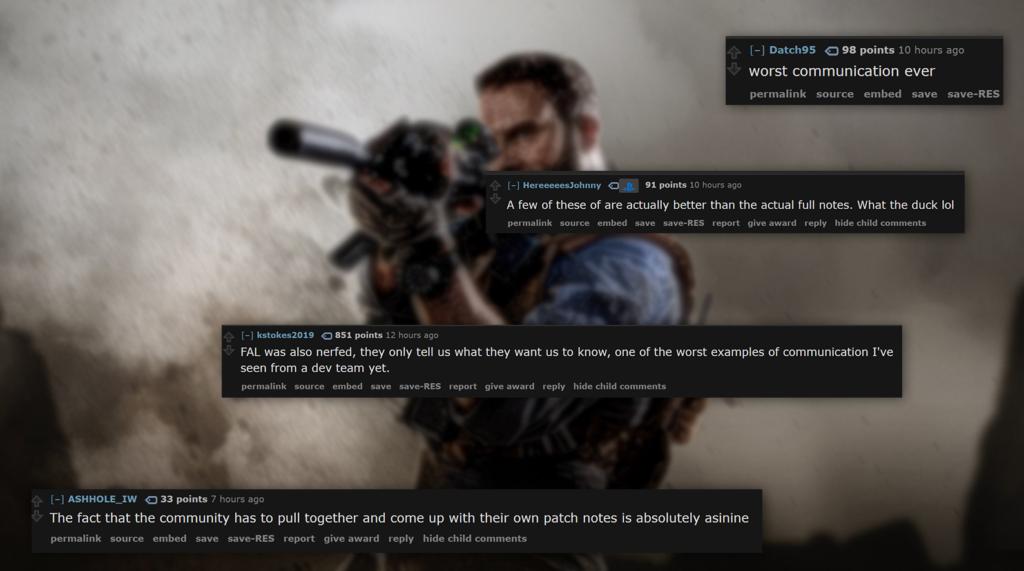 Reddit: Modern Warfare
