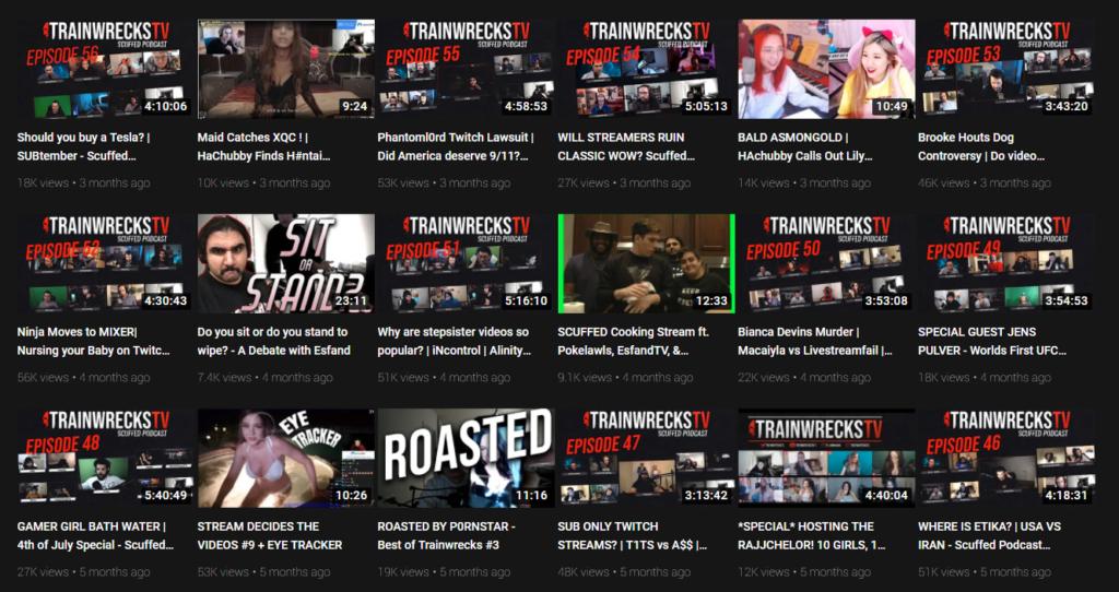 YouTube: TrainwrecksTV