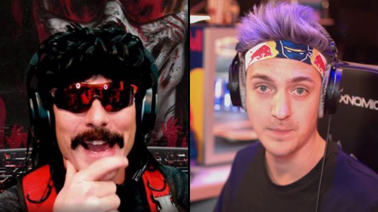 Twitch: DrDisrespect / Mixer: Ninja