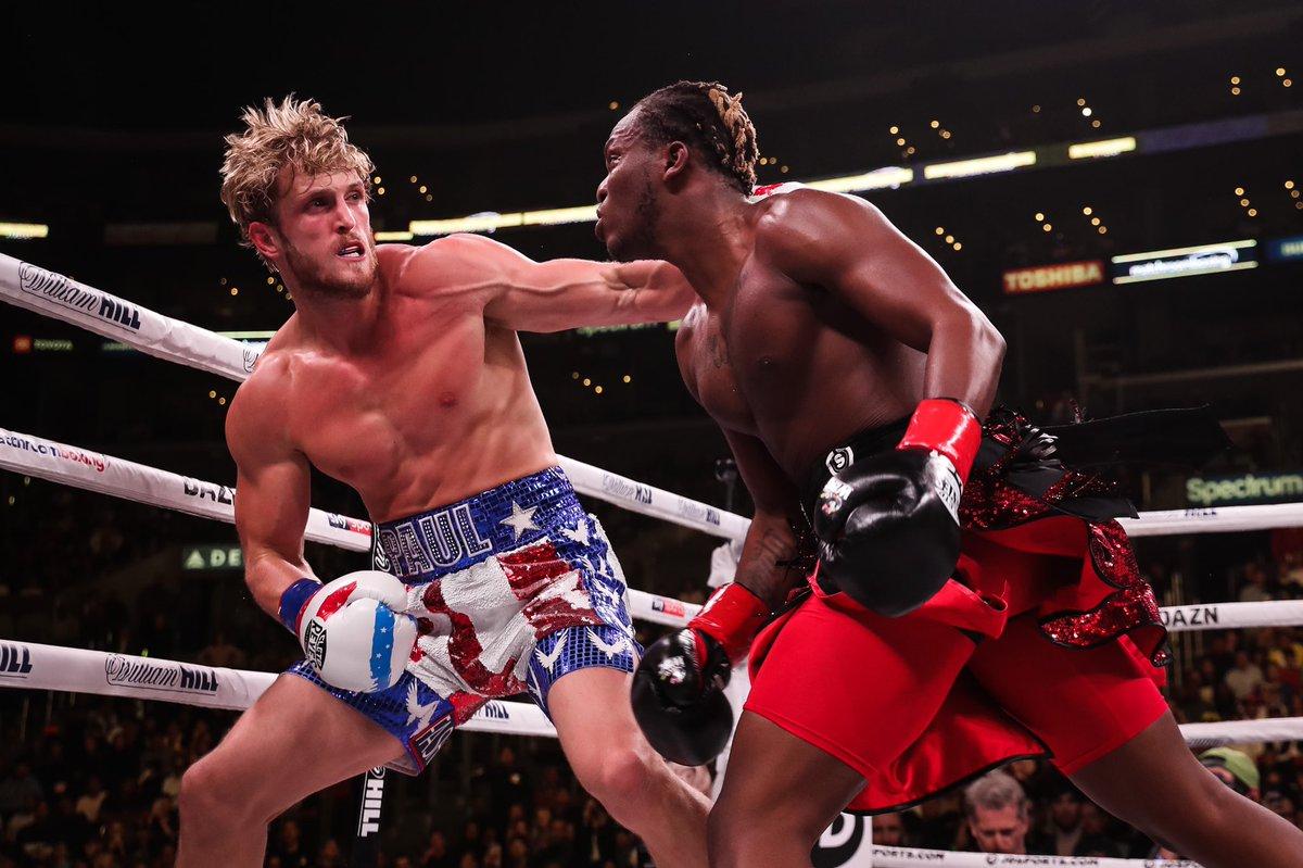 KSI fighting Logan Paul.