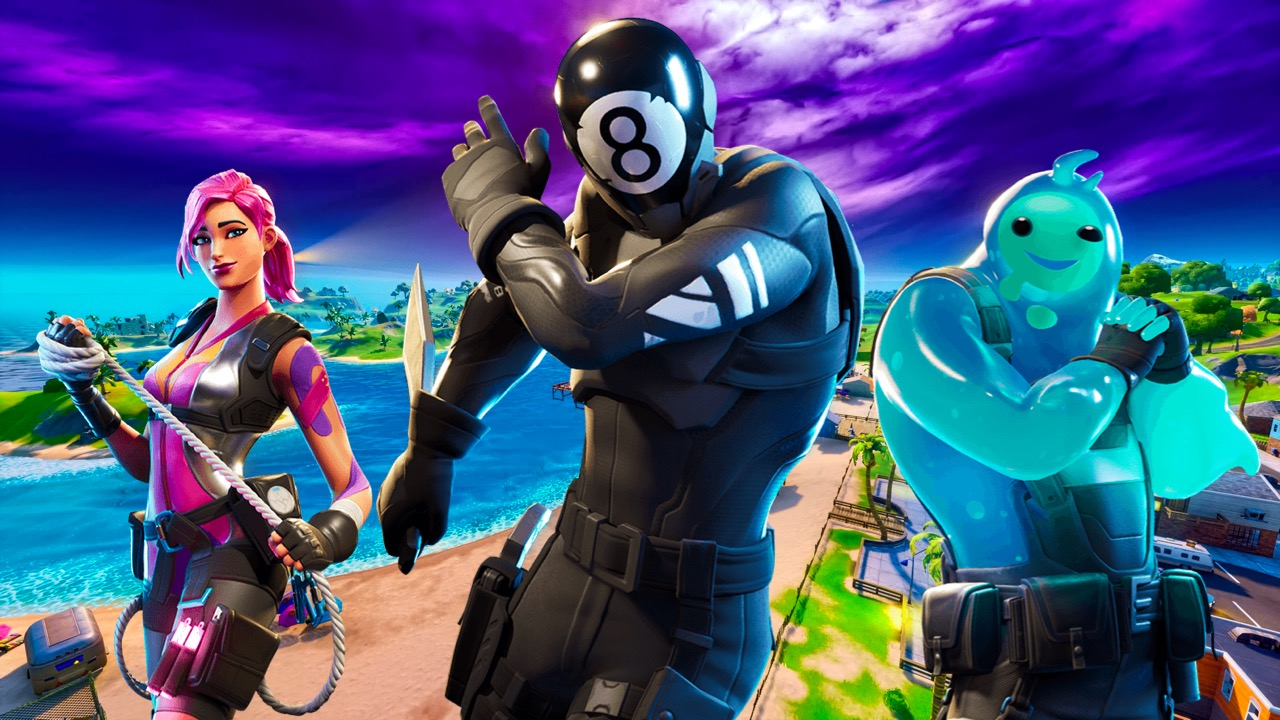 An image of three Fortnite characters posing.
