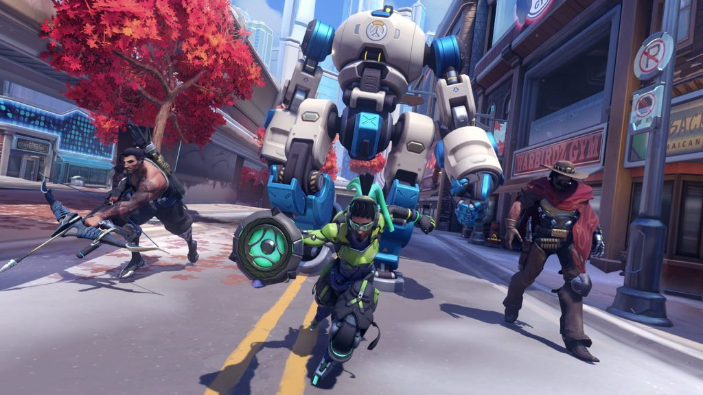 Hanzo, Lucio, and McCree in Overwatch 2 Push game.