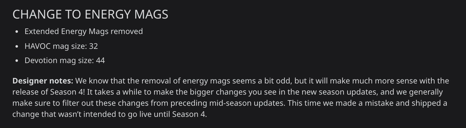 Apex Legends Grand Soiree Arcade Event patch notes.