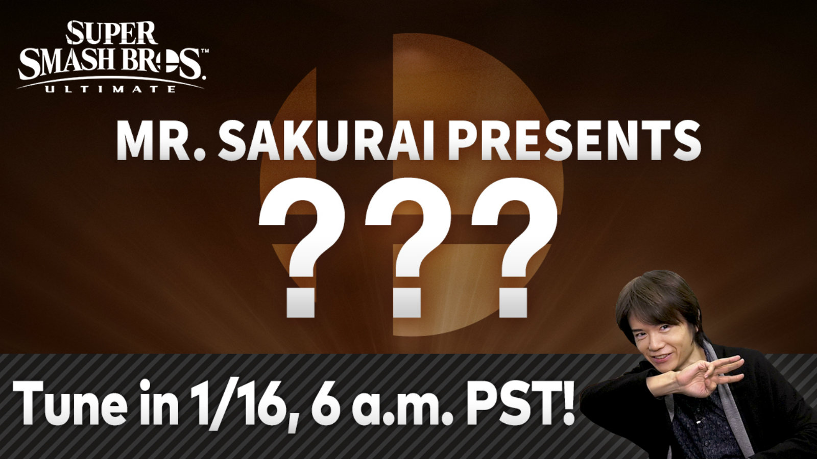 Sakuari presents Super Smash Bros Ultimate DLC fighter five
