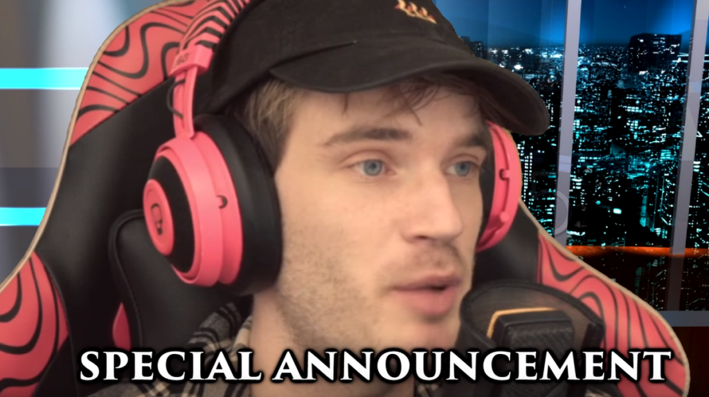 PewDiePie announces his YouTube break